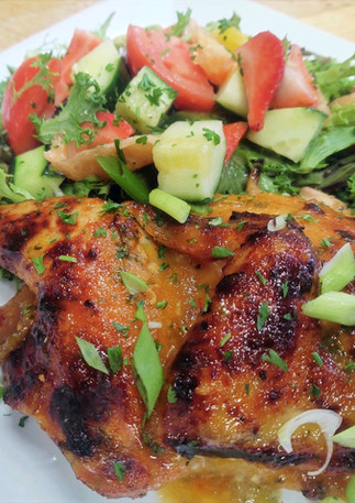 Summer Chicken Thighs with Summer Salad Special