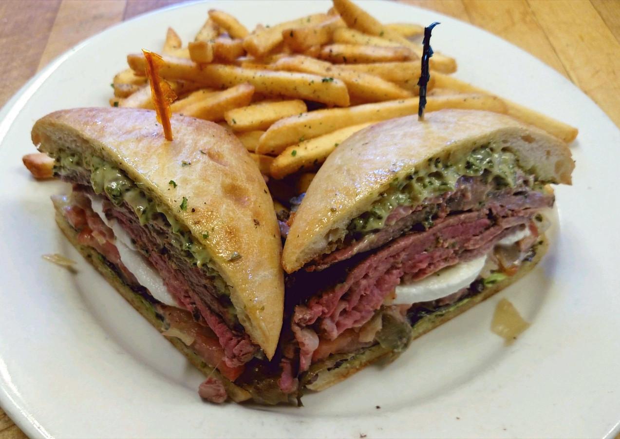 Roast Beef Pesto Sandwich