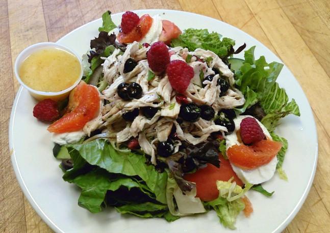Pulled Chicken & Blood Orange Salad