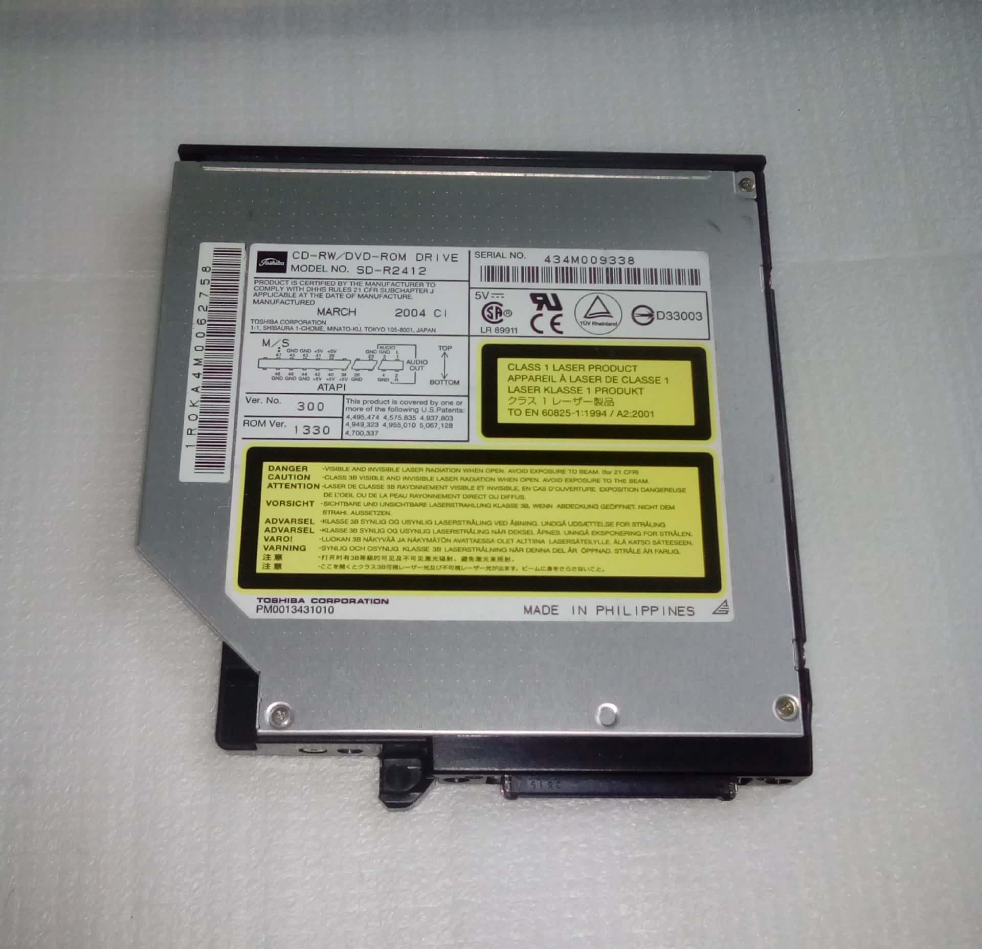 TOSHIBA DVD ROM SD R2412 DRIVER FREE