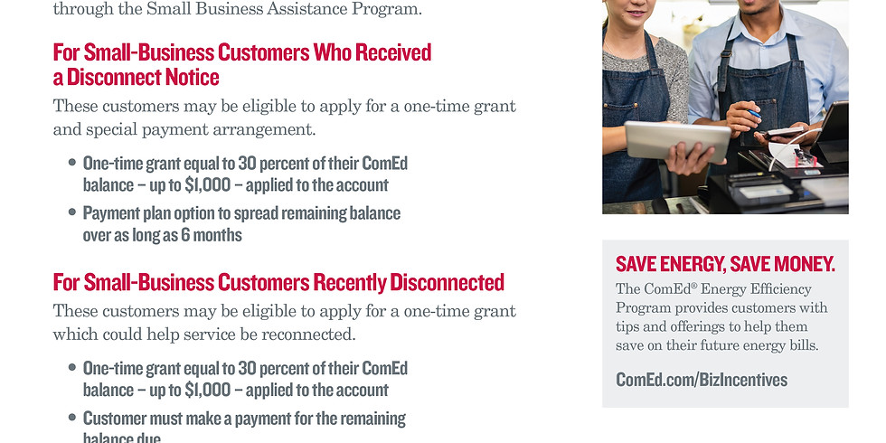 ComEd Small Business Assistance Program