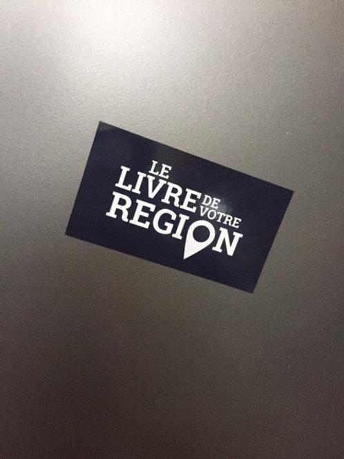 """Magnet """"Le livre de votre région"""""""