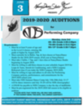 NDS PERFORMING COMPANY AUDITIONS 2019-20