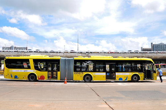 ônibus preto e branco