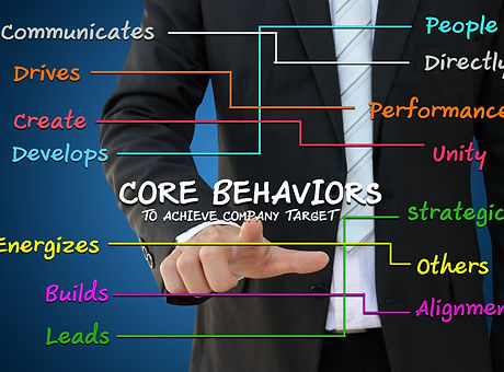 Business man with core behavior concept
