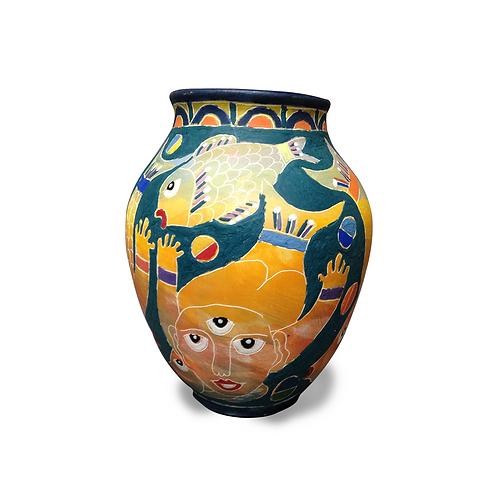 Fish/Man Vase