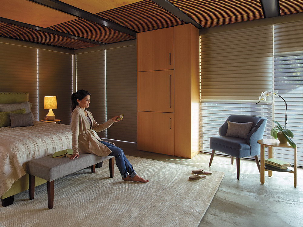 Hunter Douglas Window Fashions, Treatments for the bedroom from Piazza Designs San Carlos