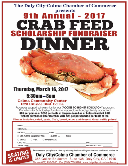 Daly City/Colma Crab Feed Dinner!