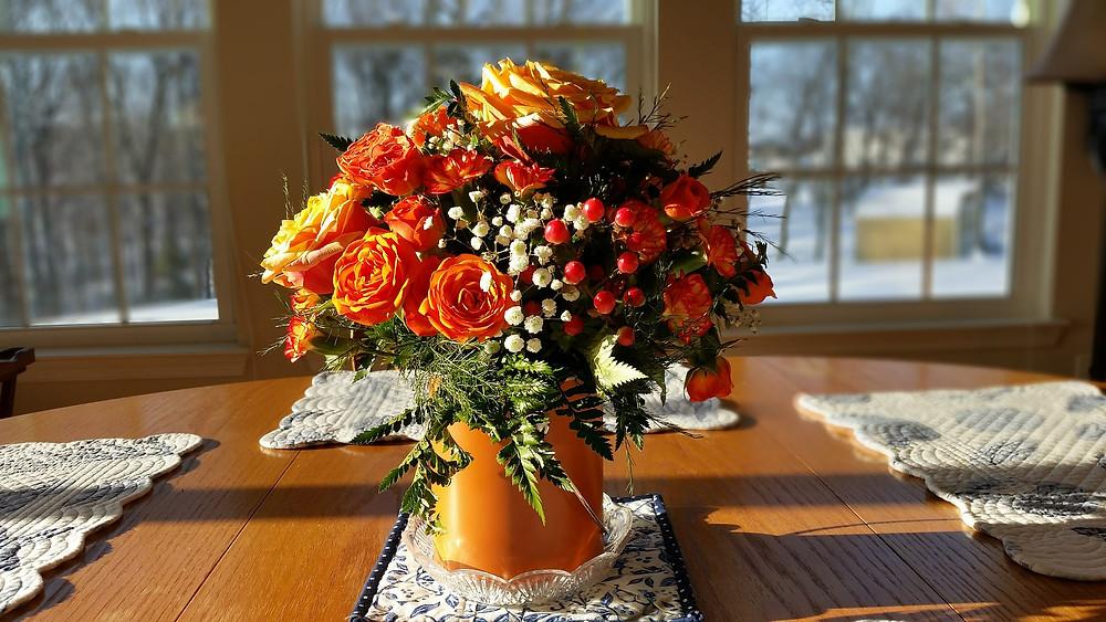 Fall centerpiece ideas - Benjamin Moore fall Colors