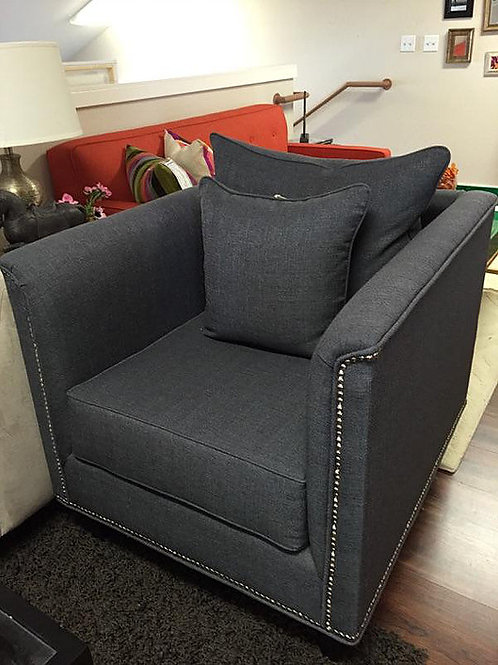Tuxedo Black Accent Chair - STORE PICKUP ONLY
