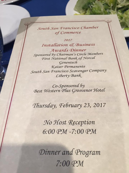 South San Francisco Chamber of Commerce2017 Installation & Business Awards Dinner