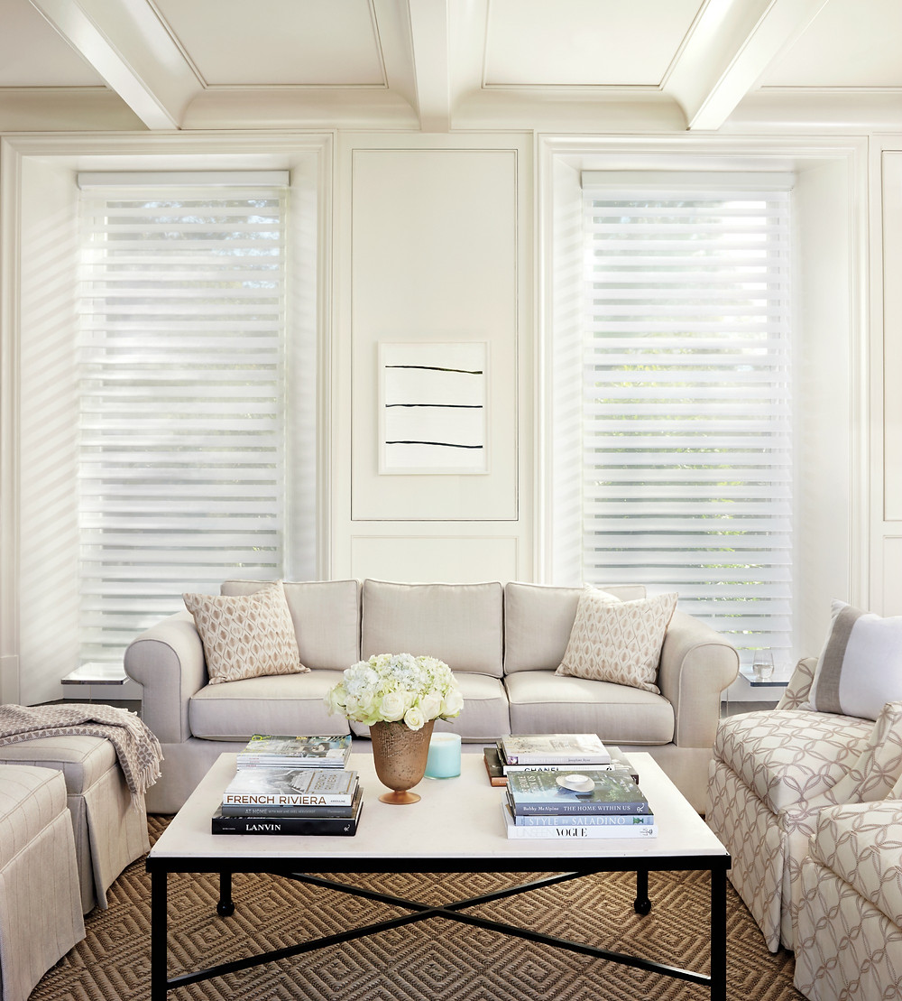 Hunter Douglas Window Fashions, Treatments for the living room from Piazza Designs San Carlos