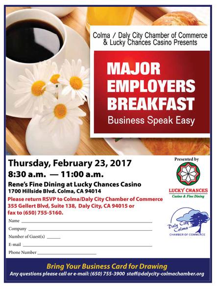 Colma: Major Employers Breakfast