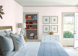 Benjamin Moore Pink Bliss in the Bedroom from Texas Paint Stores in Dallas and Plano