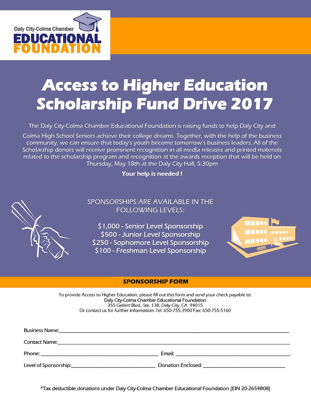 Daly City-Colma Chamber Educational Foundation 2017 Scholarship Application