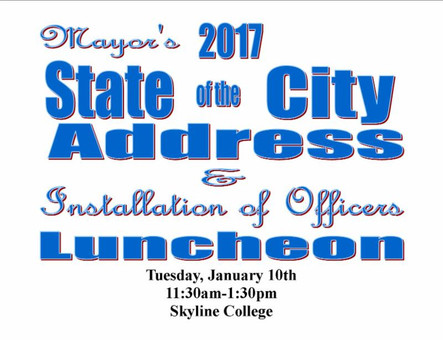 San Bruno: Installation of Officers & State of the City Address Luncheon