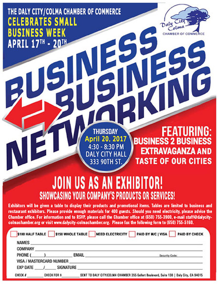 Daly City-Colma Chamber of Commerce Business 2 Business Extravaganza and Taste of our Cities