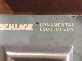 Rare, hard to find, vintage Escutcheon's