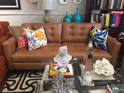 Leather Condo Sofa - STORE PICKUP ONLY