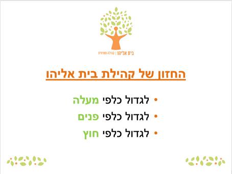 חזון בית אליהו והמעבר לשתי אסיפות 07.12.19