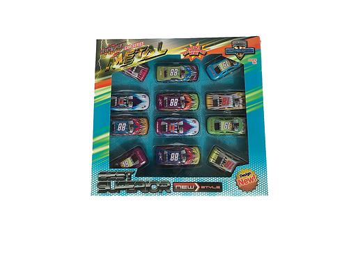 Metalen speelgoedauto's 12 stuks LG Imports