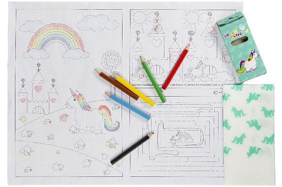 Onderleggers met tekening