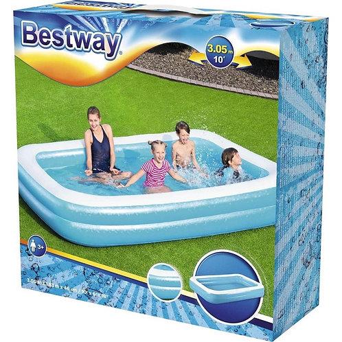 Bestway Familie Zwembad 305x183x46 cm Blauw/Wit