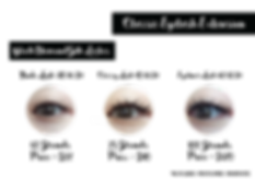 YT Lash & Brow Studio - Classic Eyelash Extension Price List
