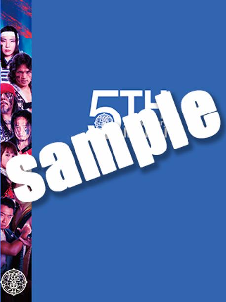 魔界5周年記念クリアブック-ブルー-(A4ポートレート付)