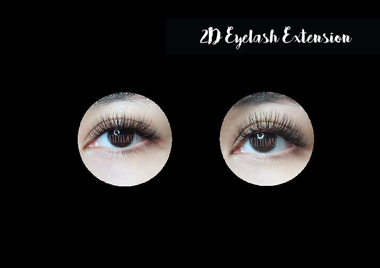 YT Lash & Brow Studio - 2D Eyelash Extension Price List