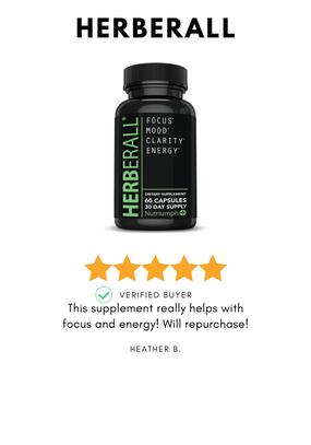 Herberall natural alternative to adderall nootropic brain pill supplement