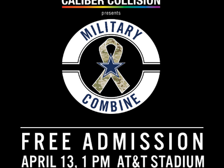 NUTRIUMPH SUPPLEMENT HERE TO SUPPORT VETERANS AT CALIBER COMBINE EVENT WITH THE DALLAS COWBOYS