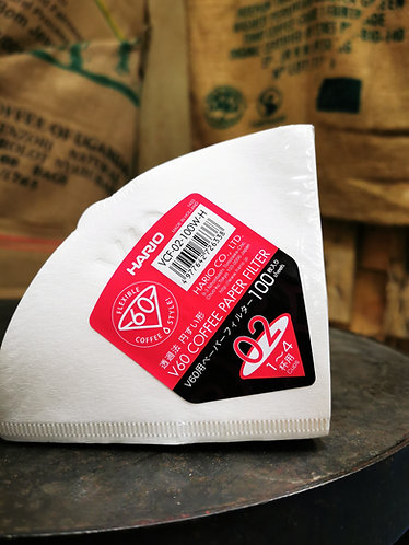 Hario size 2 V60 Paper Filters  100