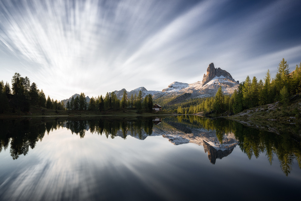 Dolomites Mountain Lake