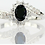 Thumbnail: Size 8 Black Oval Ring Woman Size