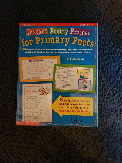 Instant Poetry Frames for Primary Poets 2001 Paperback Grades 1-3