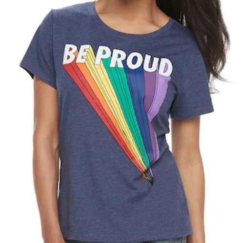 Woman Be Proud Rainbow Graphic Tee 2XL Shirt NWT