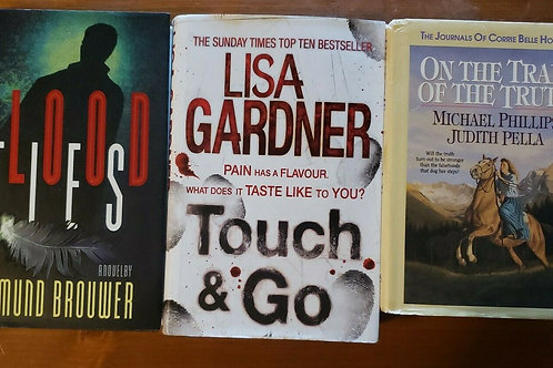 Hardback Book Lot of 3 Lisa Gardner Sigmund Brouwer Phillips Pella #3 Blood Ties