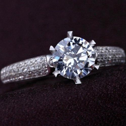 Single Solitaire 1.5 carat CZ Wedding Ring 7