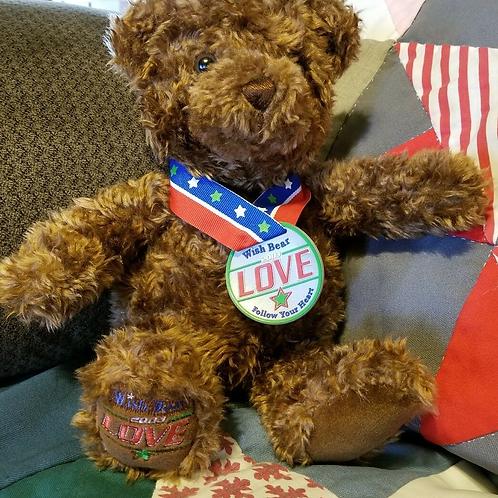 Gund Teddy Bear Wish Bear 2003 Brown Gund LOVE Follow Your Heart Teddy Bear 12