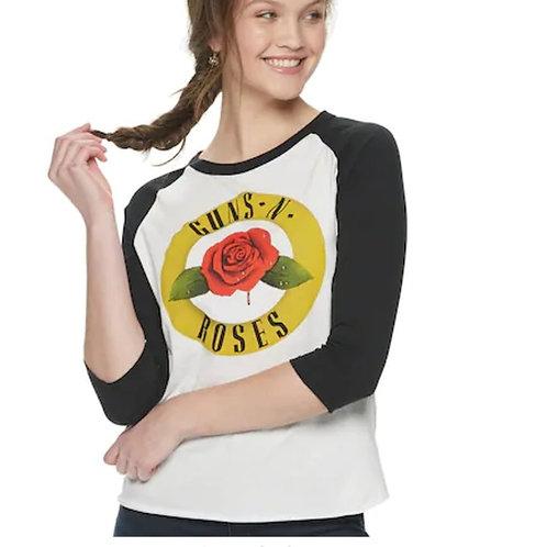 Guns N' Roses Raglan Tee XS Concert Shirt
