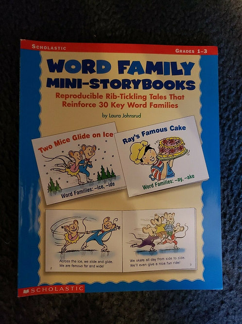 Word Family Mini-Storybooks by Laura Johnsrud (2002, Paperback) Grades 1-3