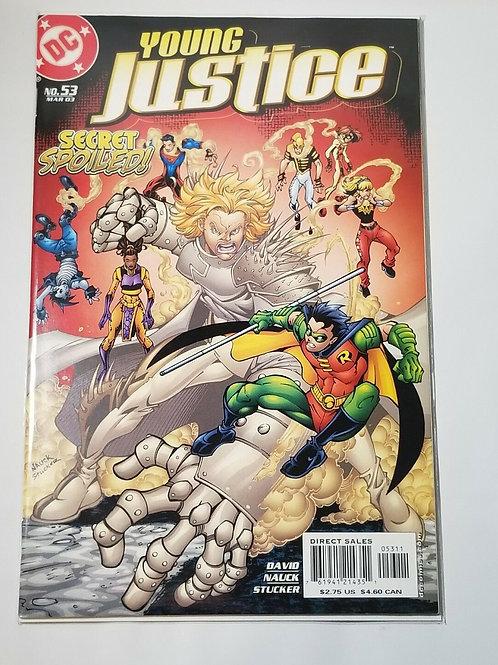Comic Book Young Justice #53 (Mar 2003, DC) Secret Spoiled David Nauck Stucker