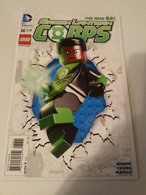 DC Comics Green Lanteen Corps #36 The New 52 Jan 2015 Lego Variant Cover
