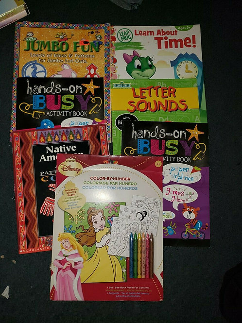 Activity Learning Book Lot for home school Education