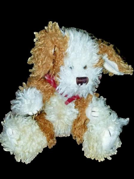 Boyd's Shaggy Dog Brown and White 1985-99 Plush Stuffed Animal