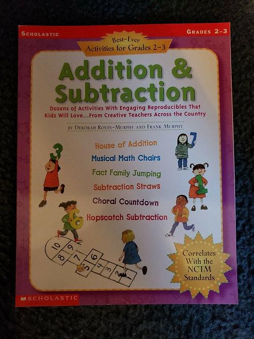 Addition Subtraction Grades 2-3 Educational Book 2002 Paperback Teachers Edition