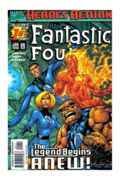 Fantastic Four #1 (Jan 1998, Marvel) Comic Book Collectible