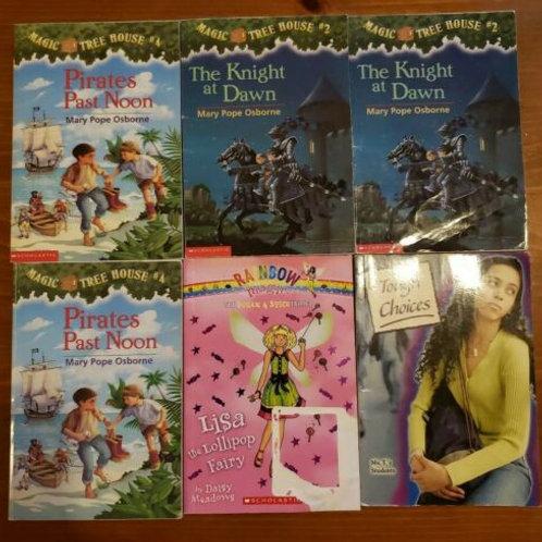 Book lot Children Magic Tree House Rainbow Tough Choices Girl #2