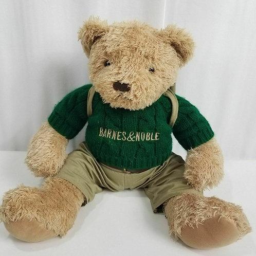 Barnes & Noble Teddy Bear Barnsie Backpack 2003 20 inch